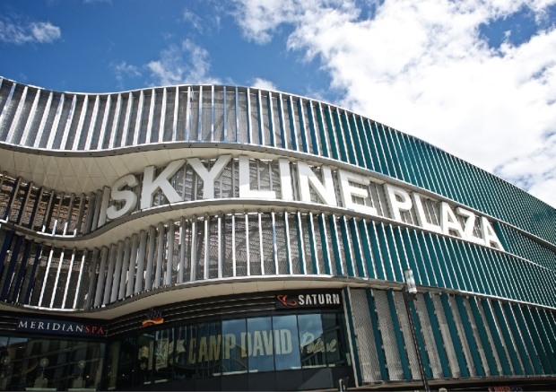 Facade of Skyline Plaza