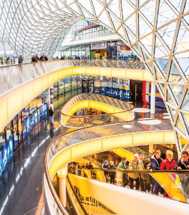 MyZeil shopping mall features the longest escalator in Germany.jpg