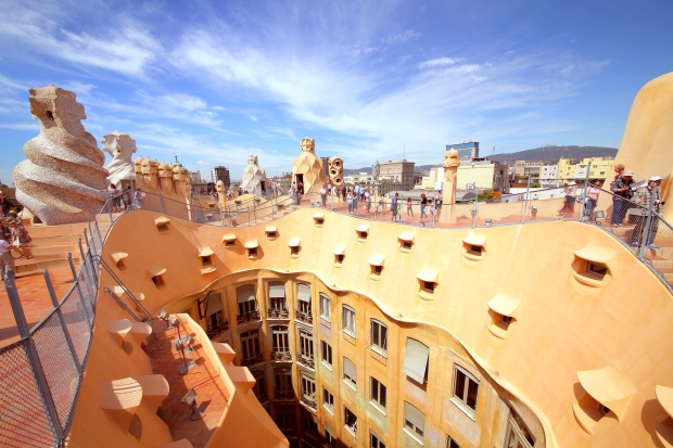 The La Pedrera resembles a work of sculpture more than a functional building.