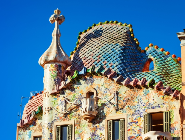 The Casa Batlló is one of the strangest residential buildings in Europe.