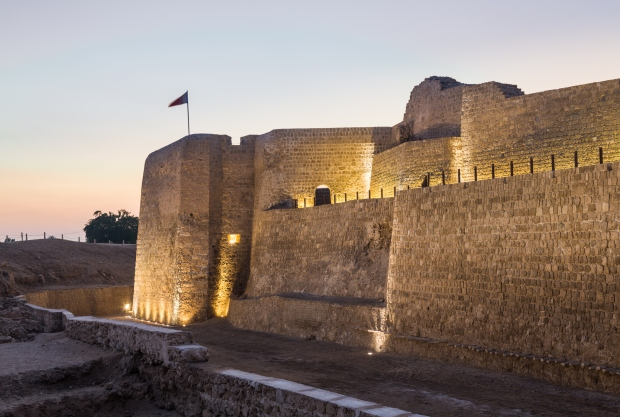 The old Bahrain Fort is a dramatic 16th century site built by the Portuguese