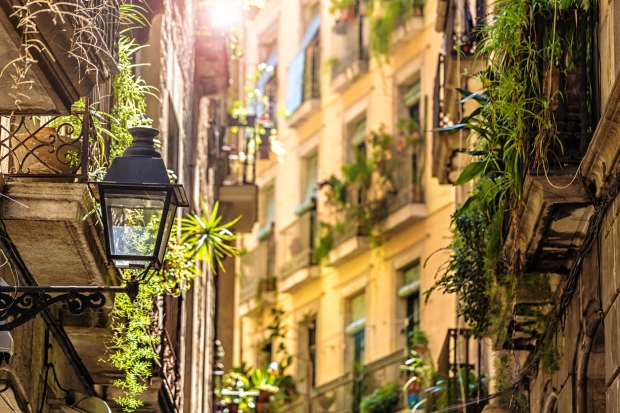 Barcelona's old town Gothic Quarter (Barri Gòtic) is a fascinating area for strolling.