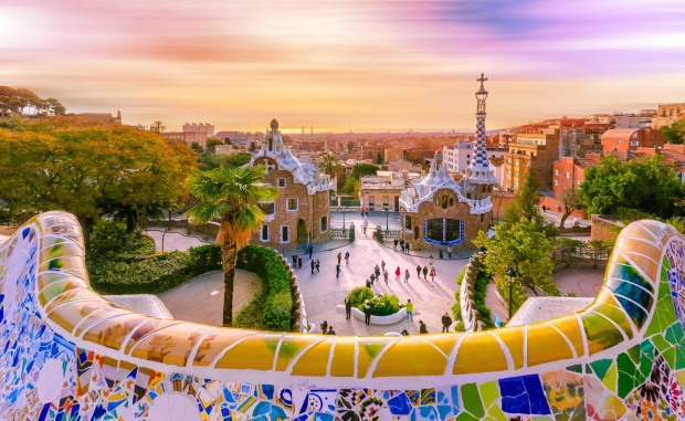 The Parc Guell is a magical place, filled with mosaics, sculptures and flower gardens.